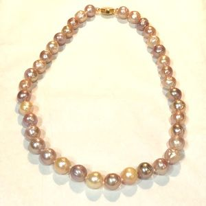 Exquisite Multicolored Pink Kasumi Pearl Necklace